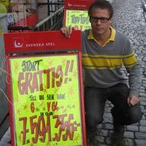 Richard Nilsson i Ystad spel och tobak.