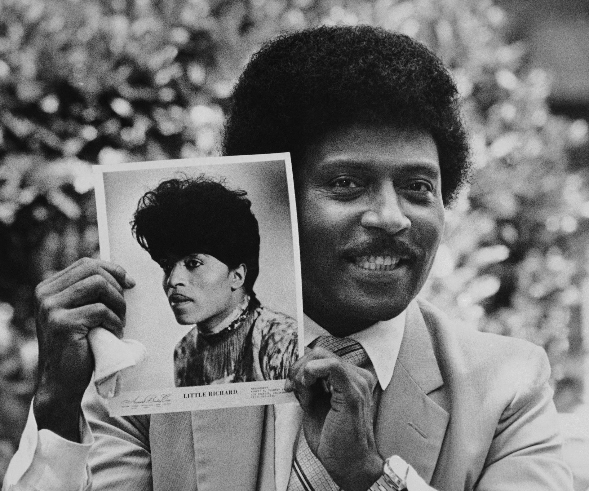Little Richard under en av sina evangeliska perioder, 1981.