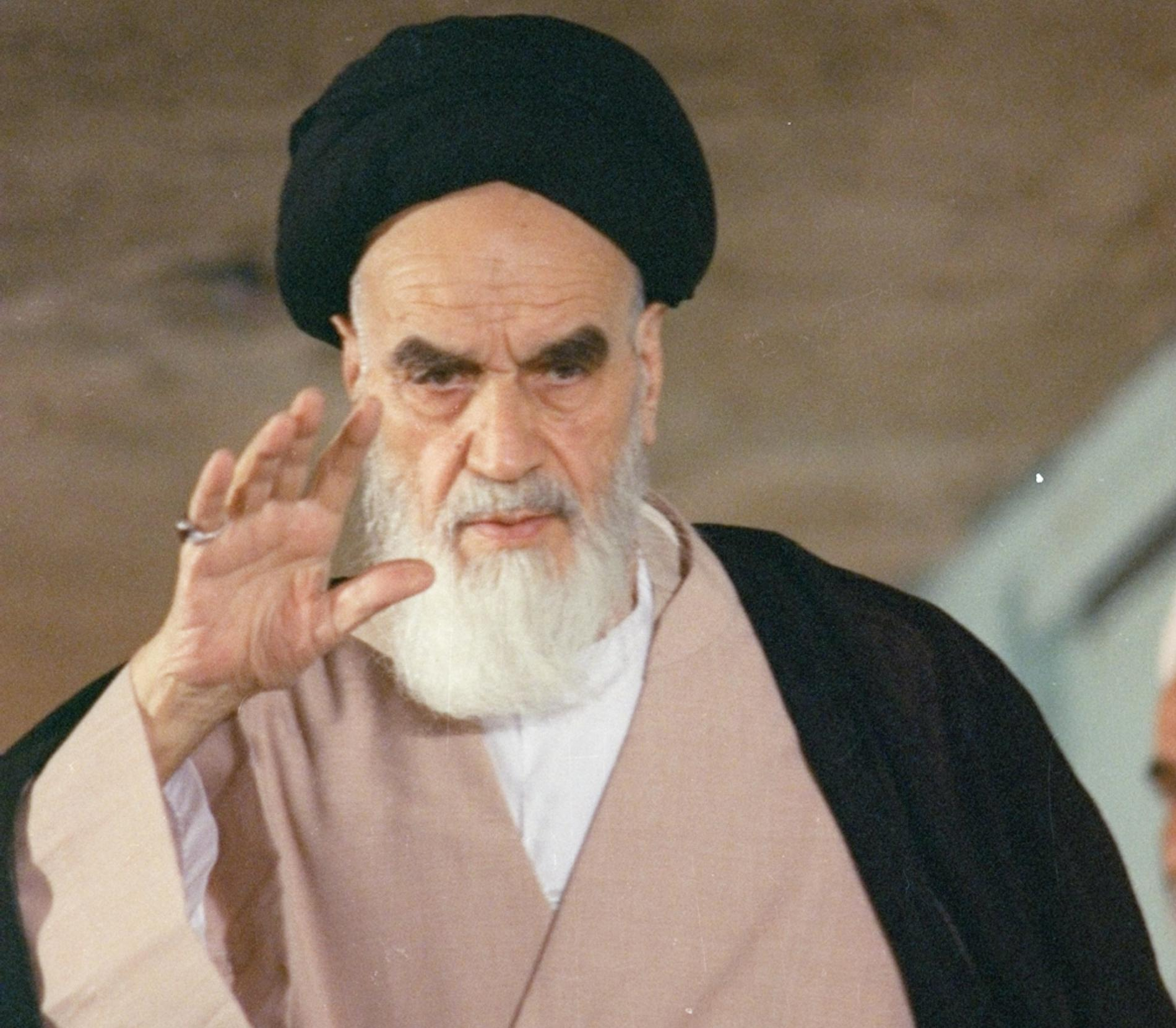 13 maj 1988, dåvarande iranske ledaren Ayatollah Ruhollah Khomeini.
