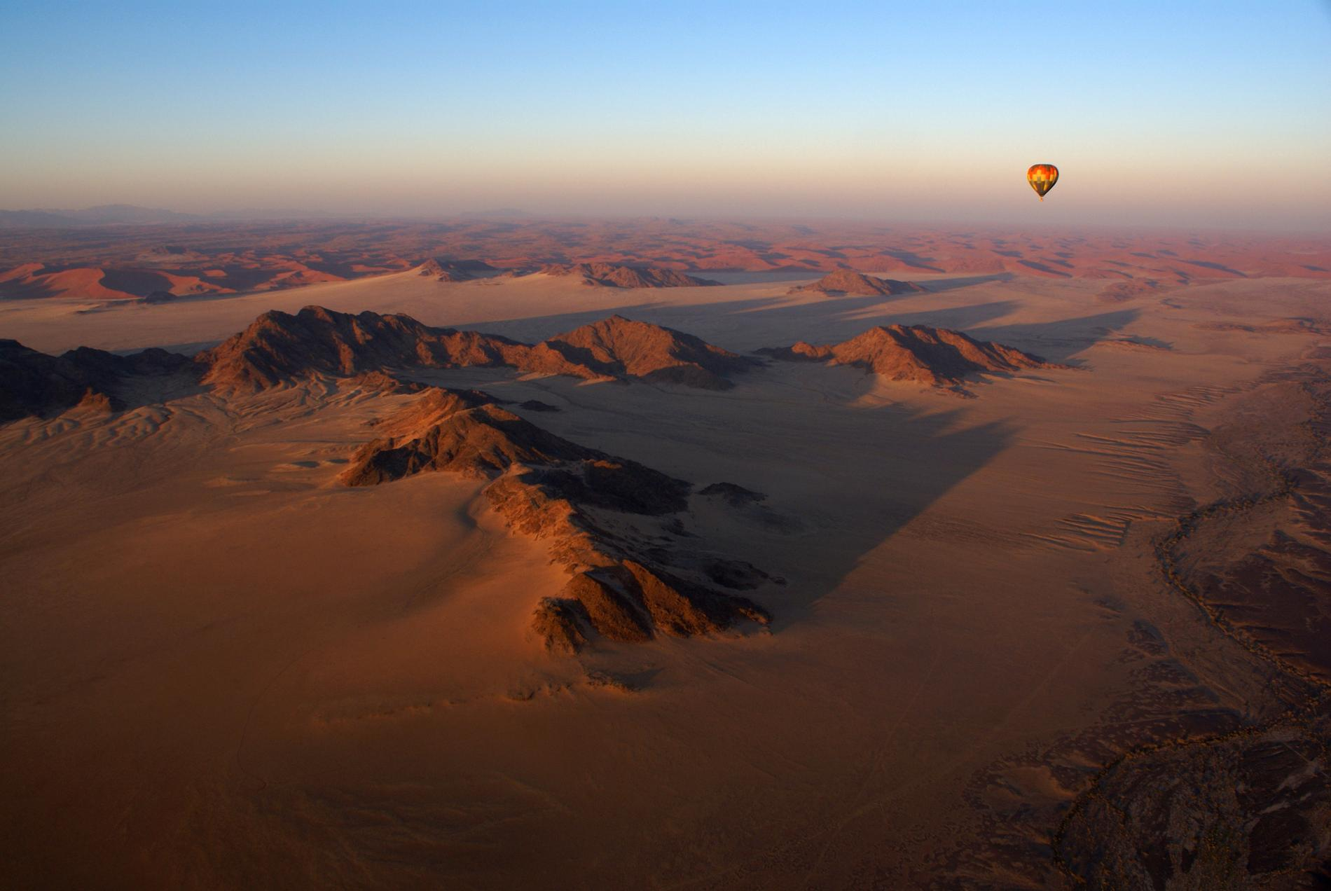 Namiböknen är extra vacker ovanifrån.