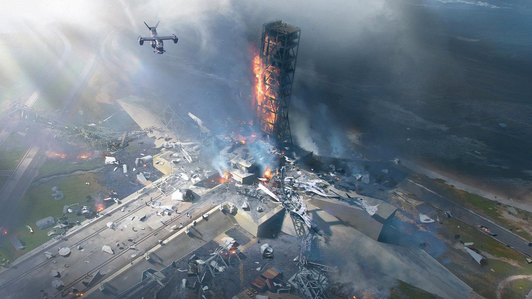 De storskaliga striderna på futuristiska slagfält får vänta till november. Pressbild.
