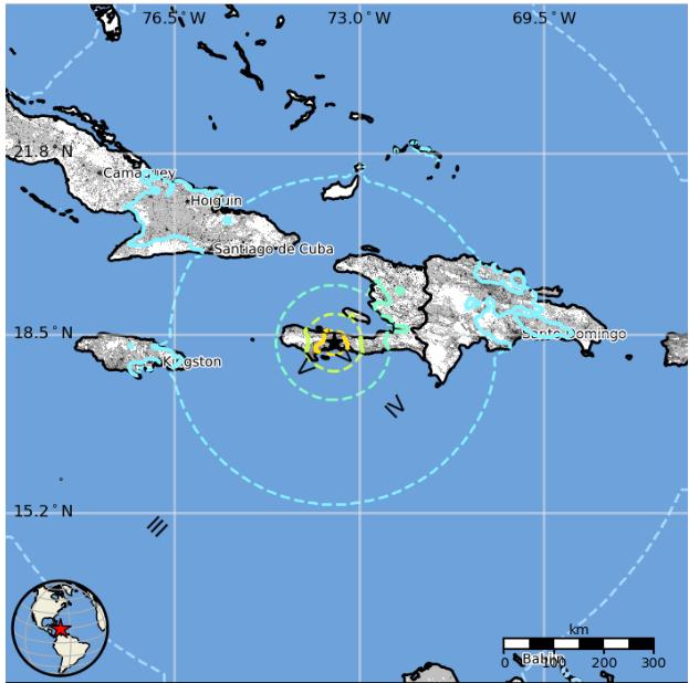 En jordbävning har ägt rum i staden Petit Trou de Nippes, på Haiti.