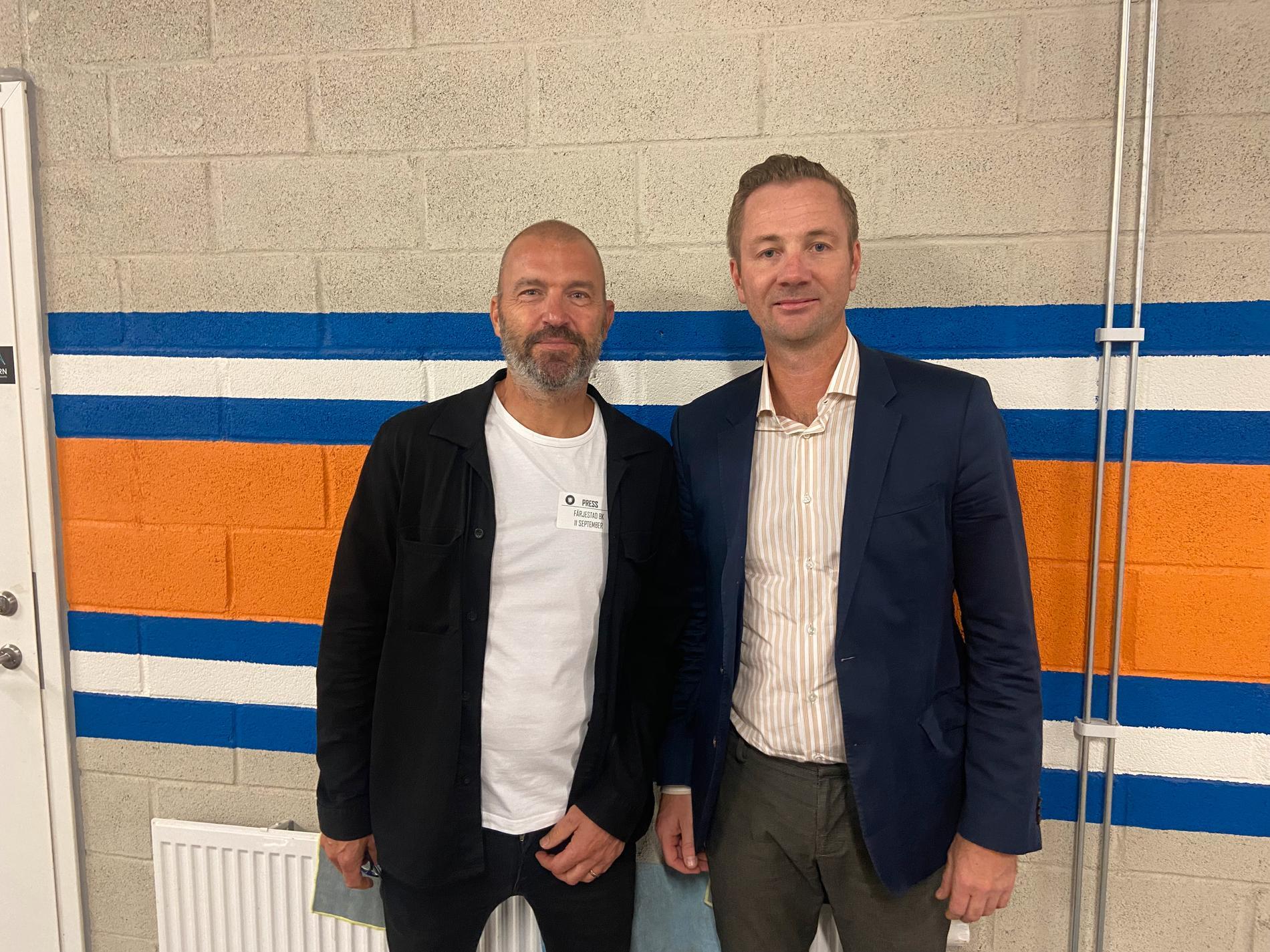 Sportbldet Hans Abrahamsson med Henrik Evertsson.