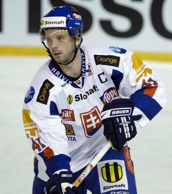 Richard Lintner i slovakiska landslagströjan.