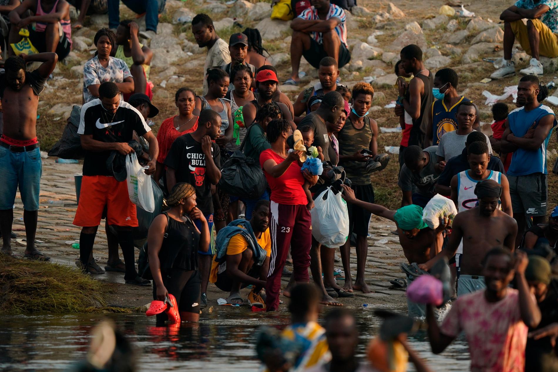 Migranter som försöker ta sig in i USA.