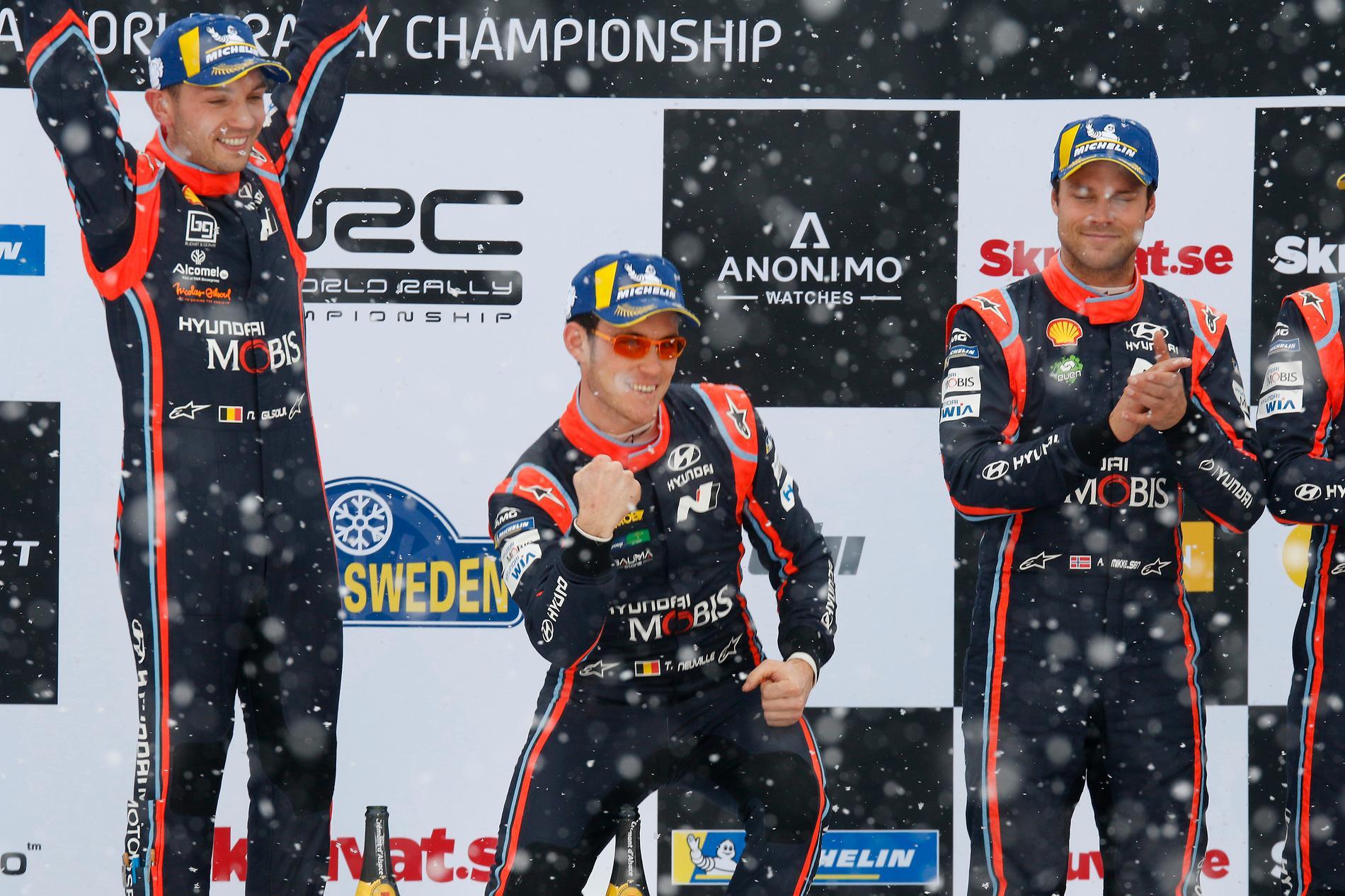 Thierry Neuville från Belgien vann Rally Sweden, eller Svenska rallyt. Här är tider för radio och TV 2019.