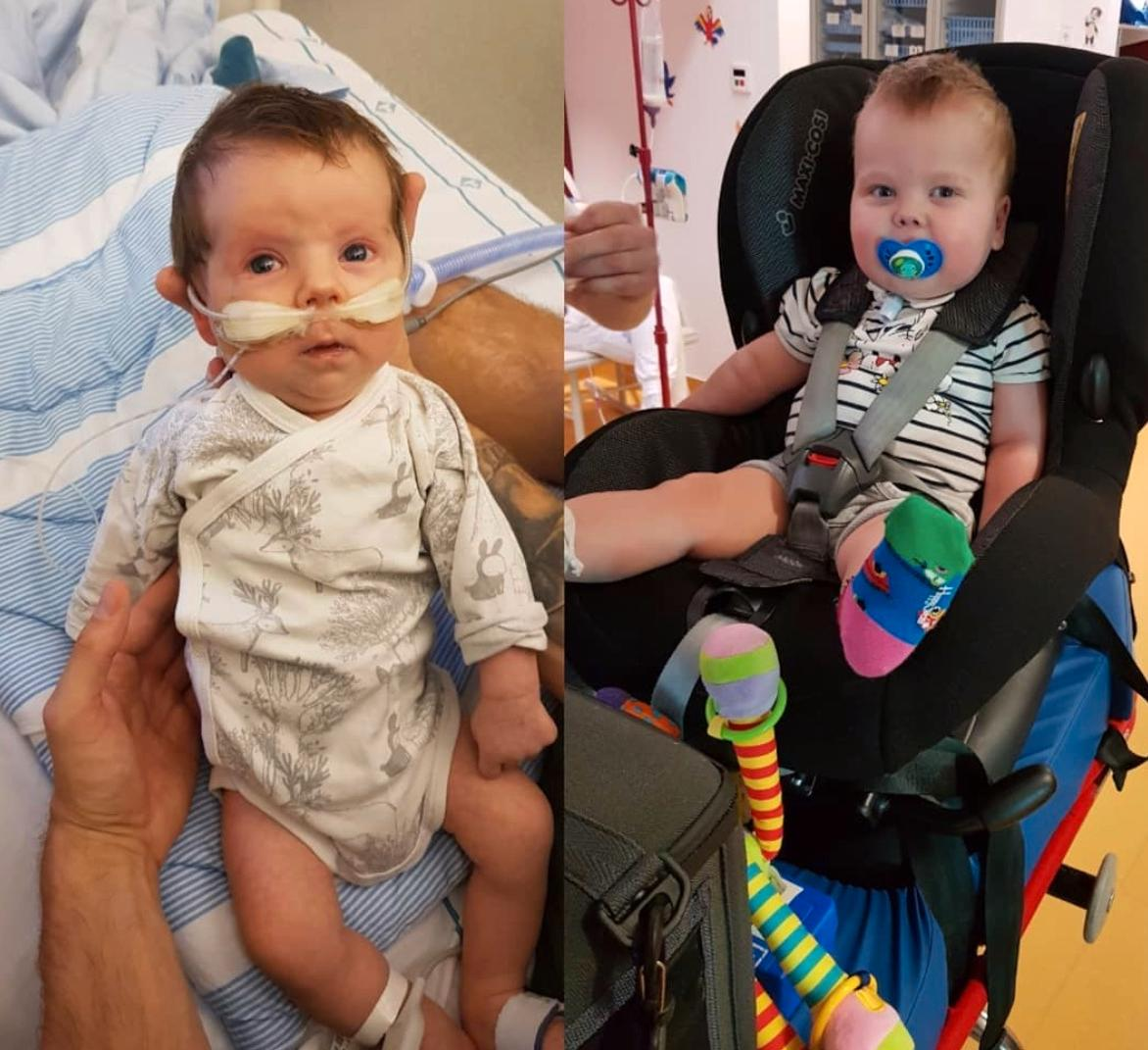 Ett år mellan bilderna på Hugo.