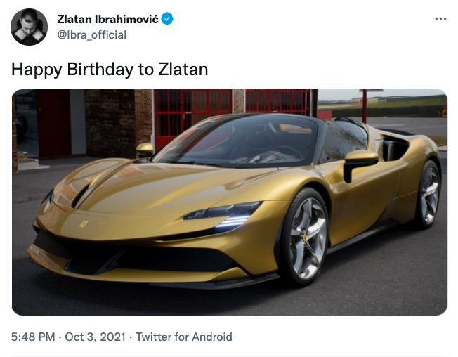 Zlatans nya bil: En Ferrari SF90 Spider