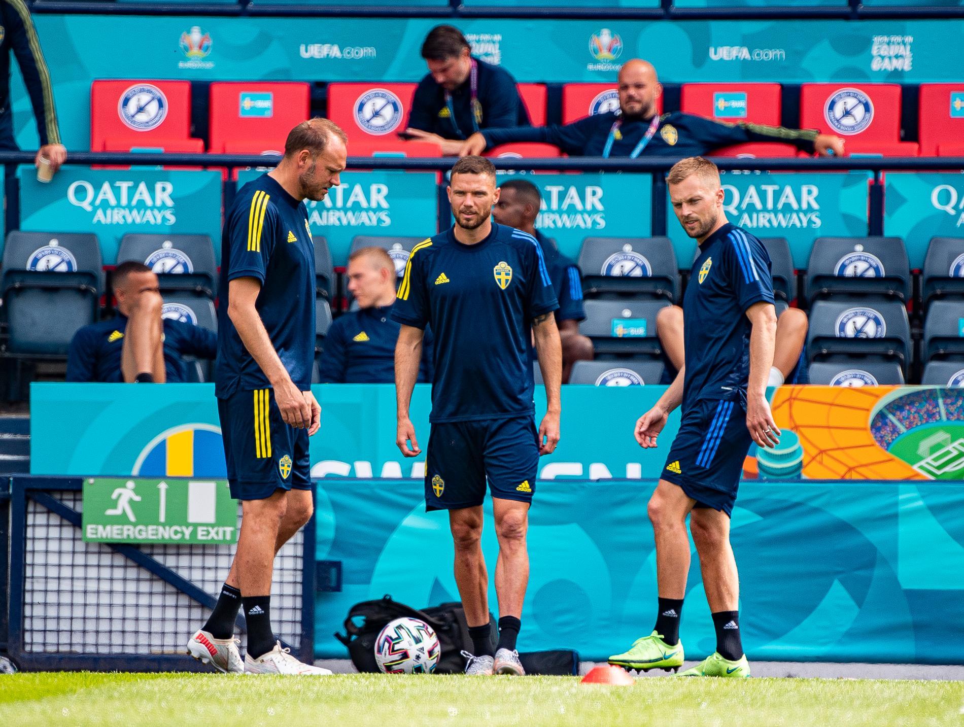 Slutet i Blågult för Andras Granqvist, Marcus Berg och Sebastian Larsson.