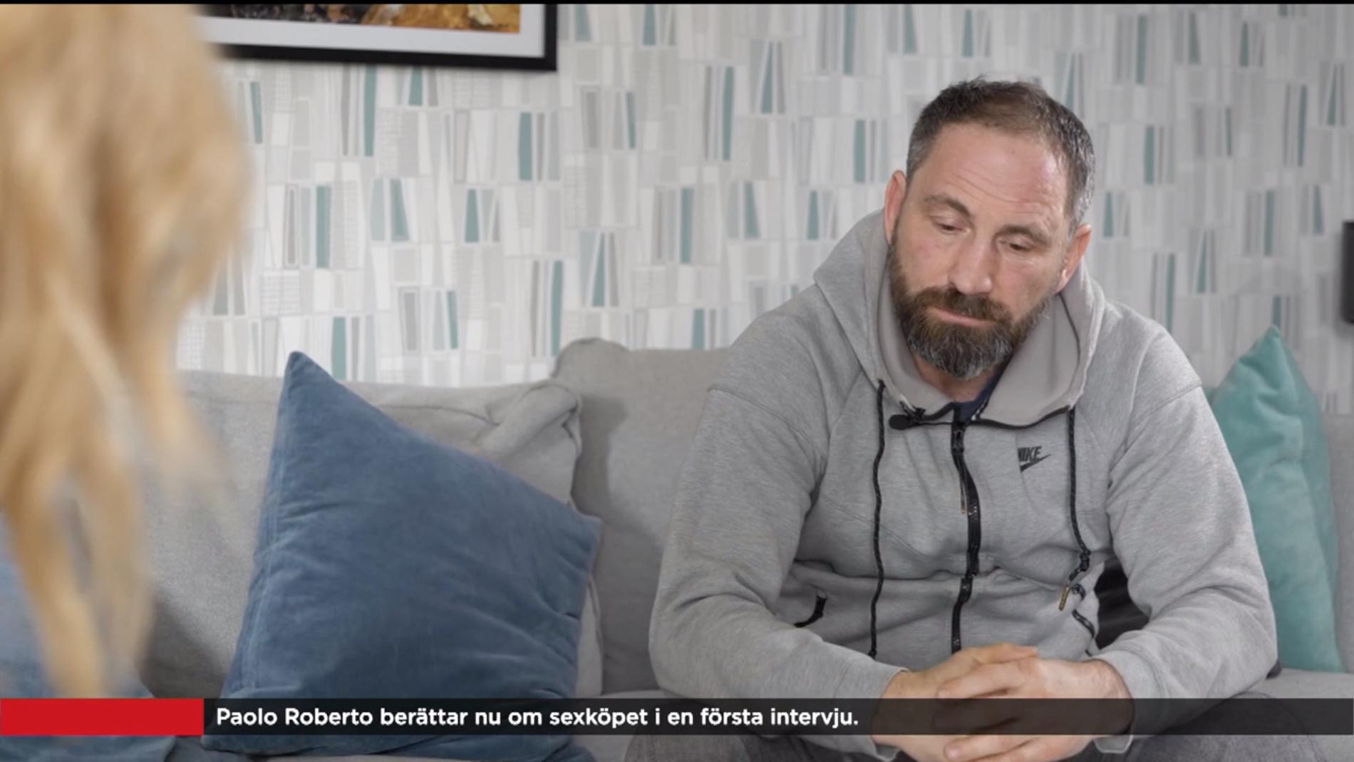 Paolo Roberto när han intervjuades av TV4
