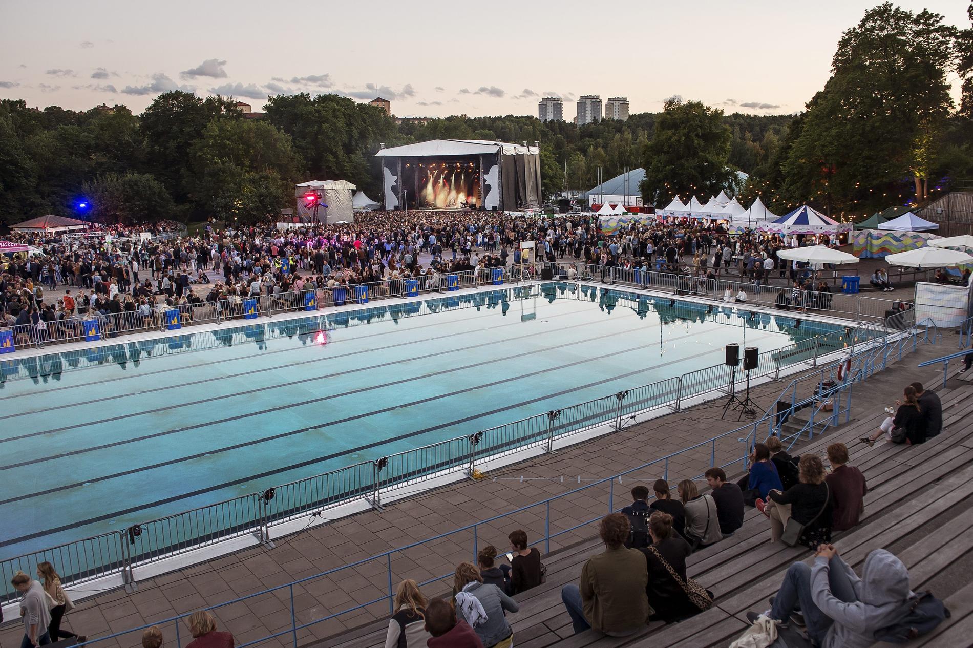 Bland annat festivalen Popaganda har arrangerats på Eriksdalsbadet.