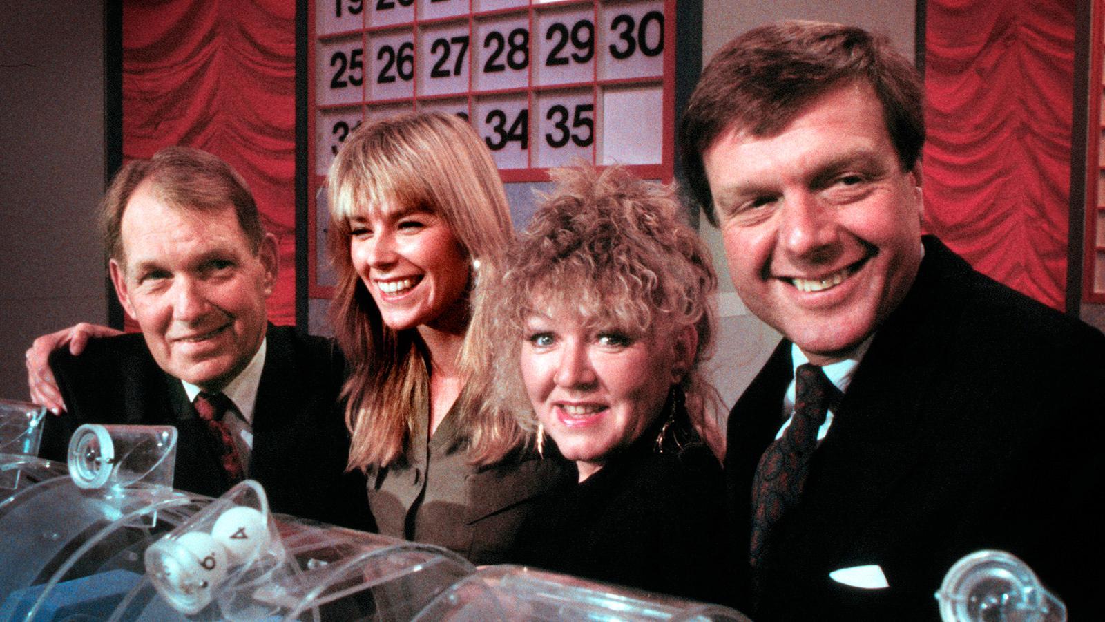 """Programledarna för SVT-programmet """"Zick zack"""", från vänseter Bengt Bedrup, Pa Neumüller, Monica Dominique och Tommy Engstrand."""