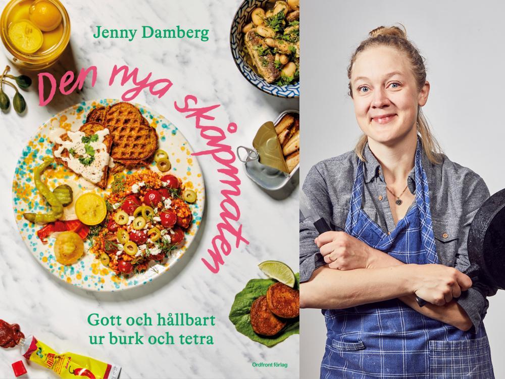 Jenny Damberg med sin nya bok.