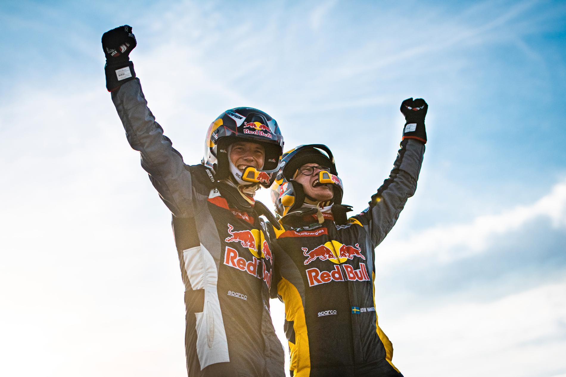 Timmy och Kevin Hansen leder VM i rallycross dubbelt