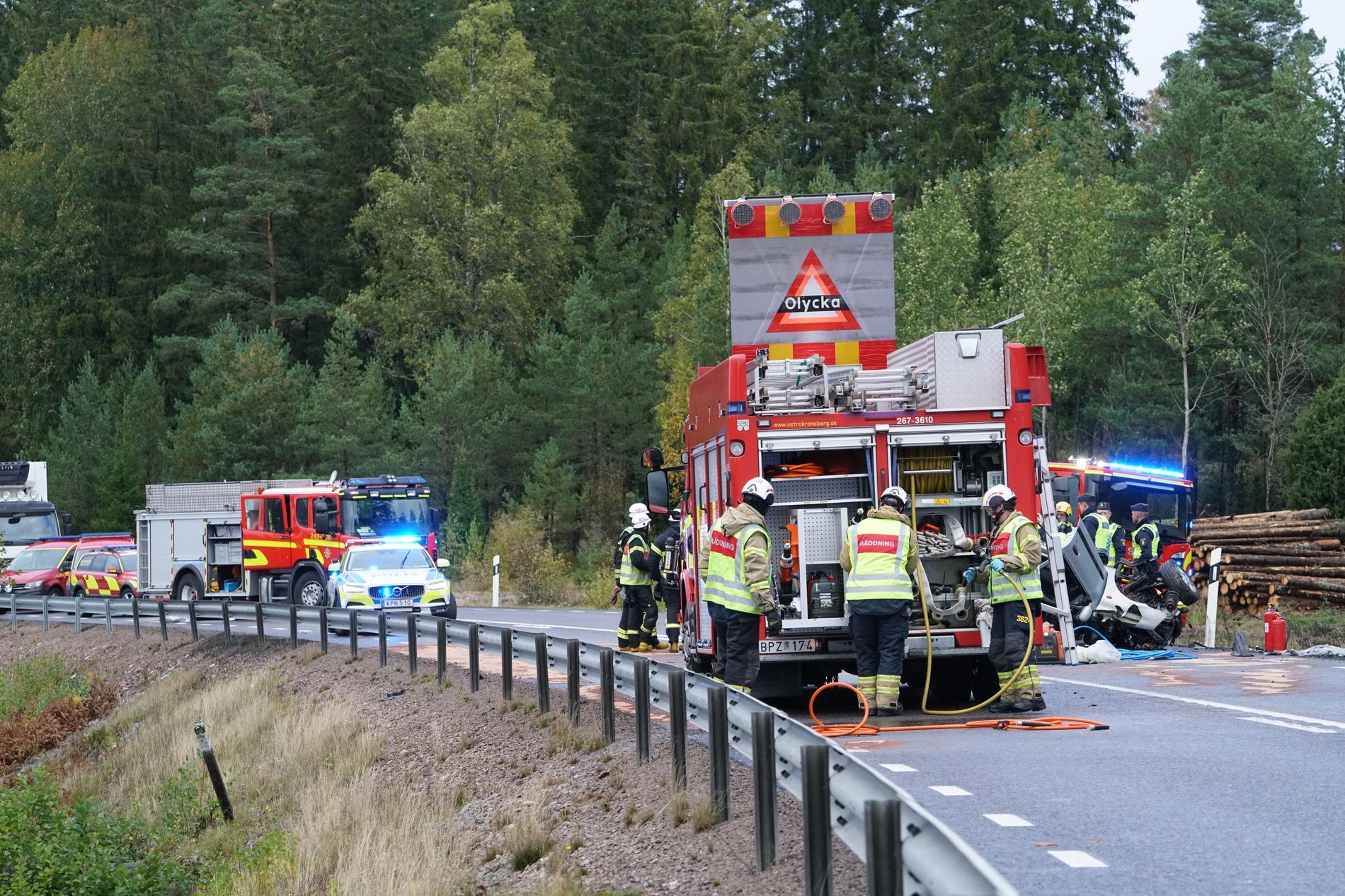 Olyckan inträffade i Uppvidinge kommun utanför Växjö.