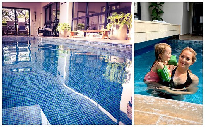 På Hotell Mossbylund kan du bada både utomhus och inomhus. Även barn är välkomna att spa:a och bada.