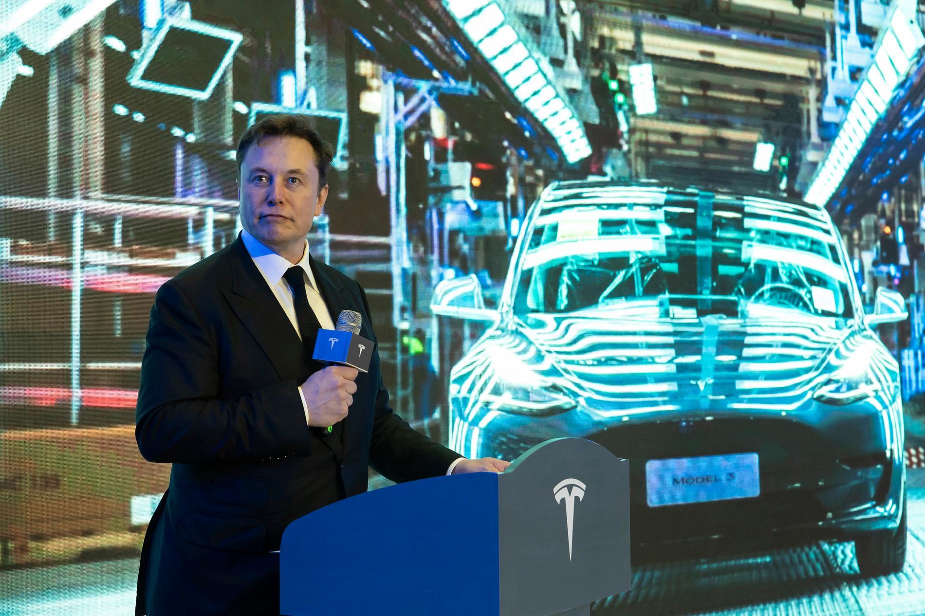Teslas vd, kändisentreprenören Elon Musk. Arkivbild.