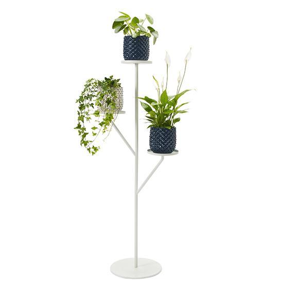 Piedestal med inbyggd växtlampa. Smart sätt att också utnyttja höjden, 449 kr, plantagen.se.