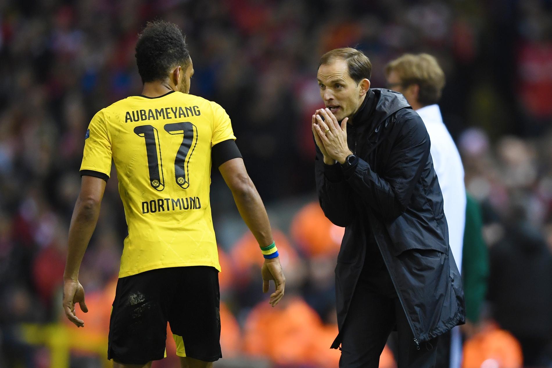 Aubameyang och Tuchel i Dortmund.