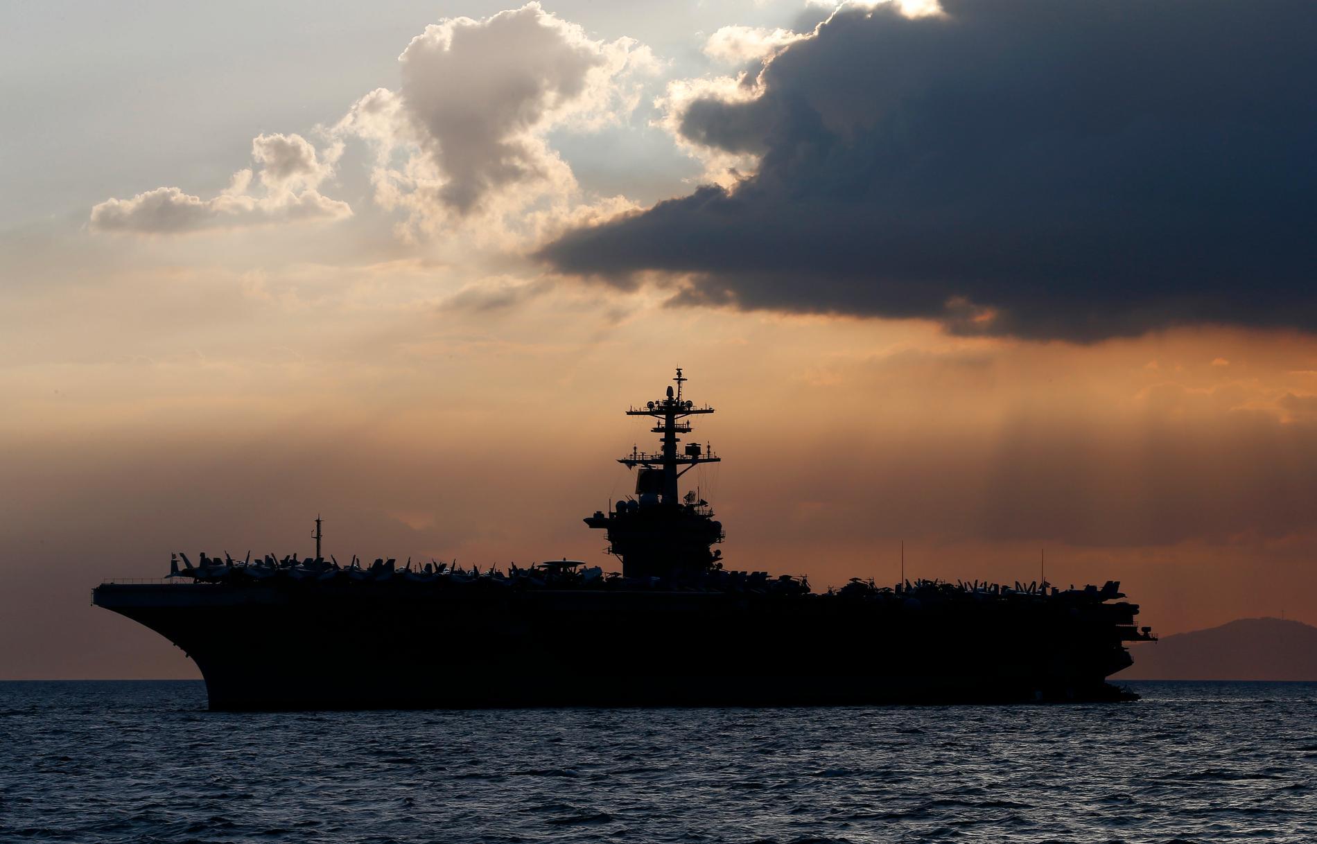 Hangarfartyget USS THeodore Roosevelt.
