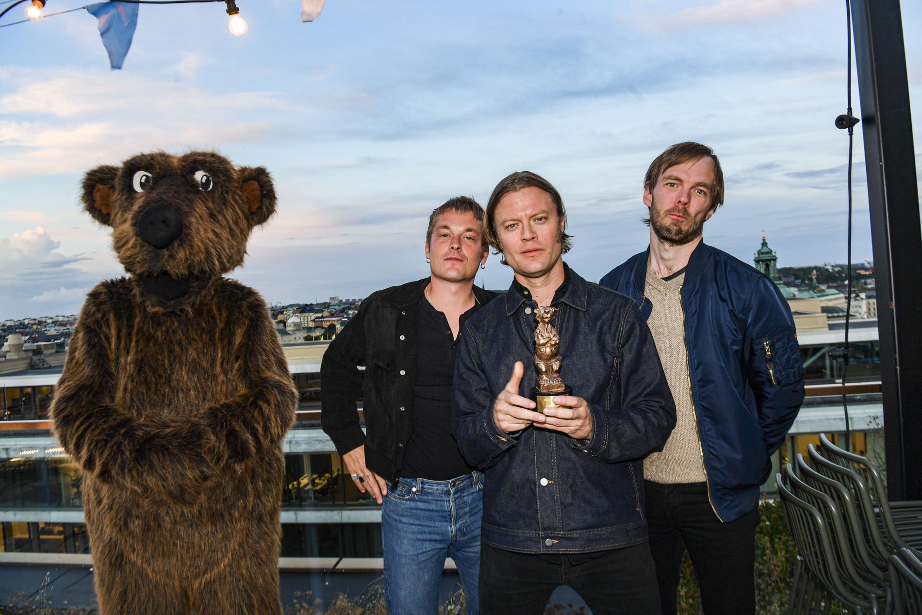 Mando Diao fick priset Årets livegrupp på Rockbjörnen 2020.