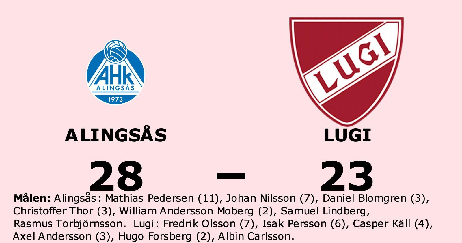Lugi föll mot Alingsås trots ledning