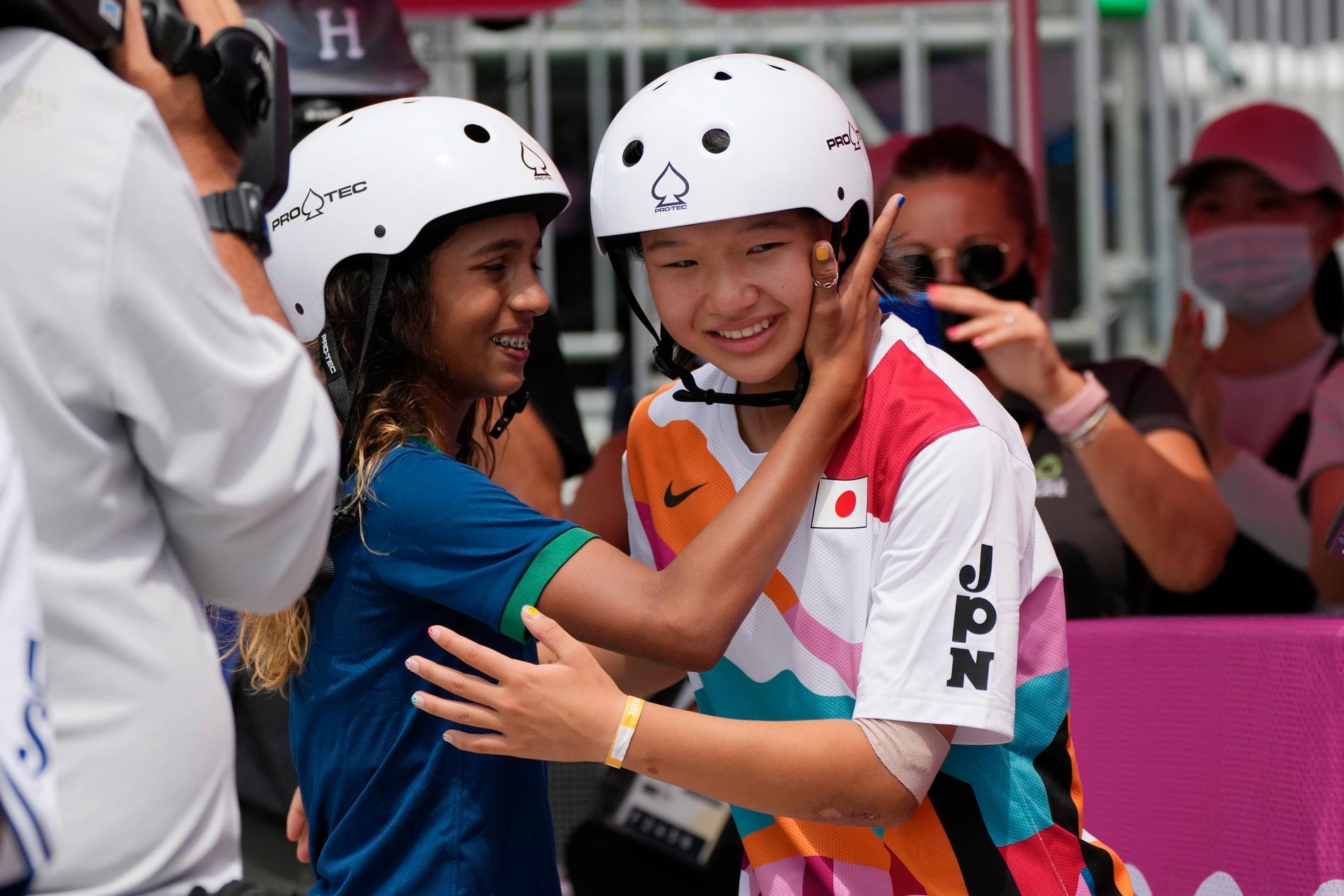 Rayssa Leal och Momiji Nishiya tog silver och guld i OS-debuten