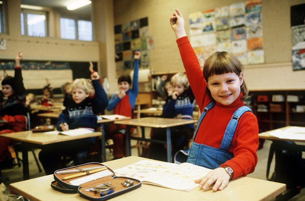 Prinsessan Märtha Louise började prinsessan i första klass på Smestad skola i Oslo 1978.