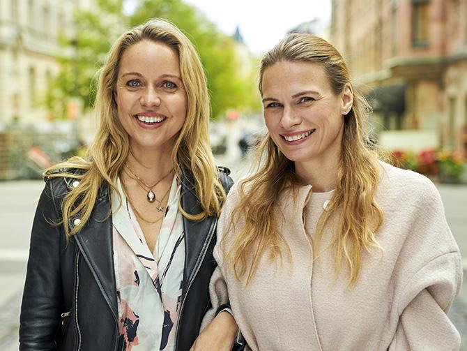 Duon bakom Food pharmacy: Mia Clase och Lina Nertby Aurell.