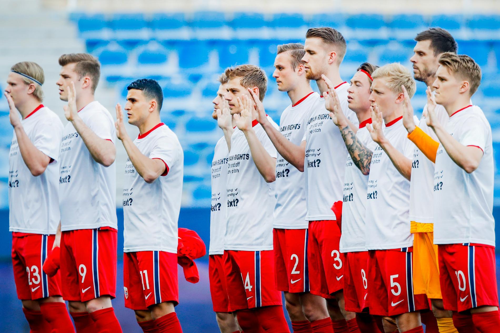 Norge protesterar mot VM i Qatar.
