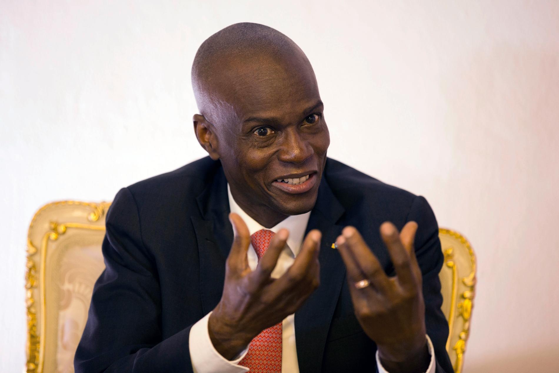 Jovenel Moïse var Haitis president 2017–2021. I somras sköts han till döds i sitt hem.