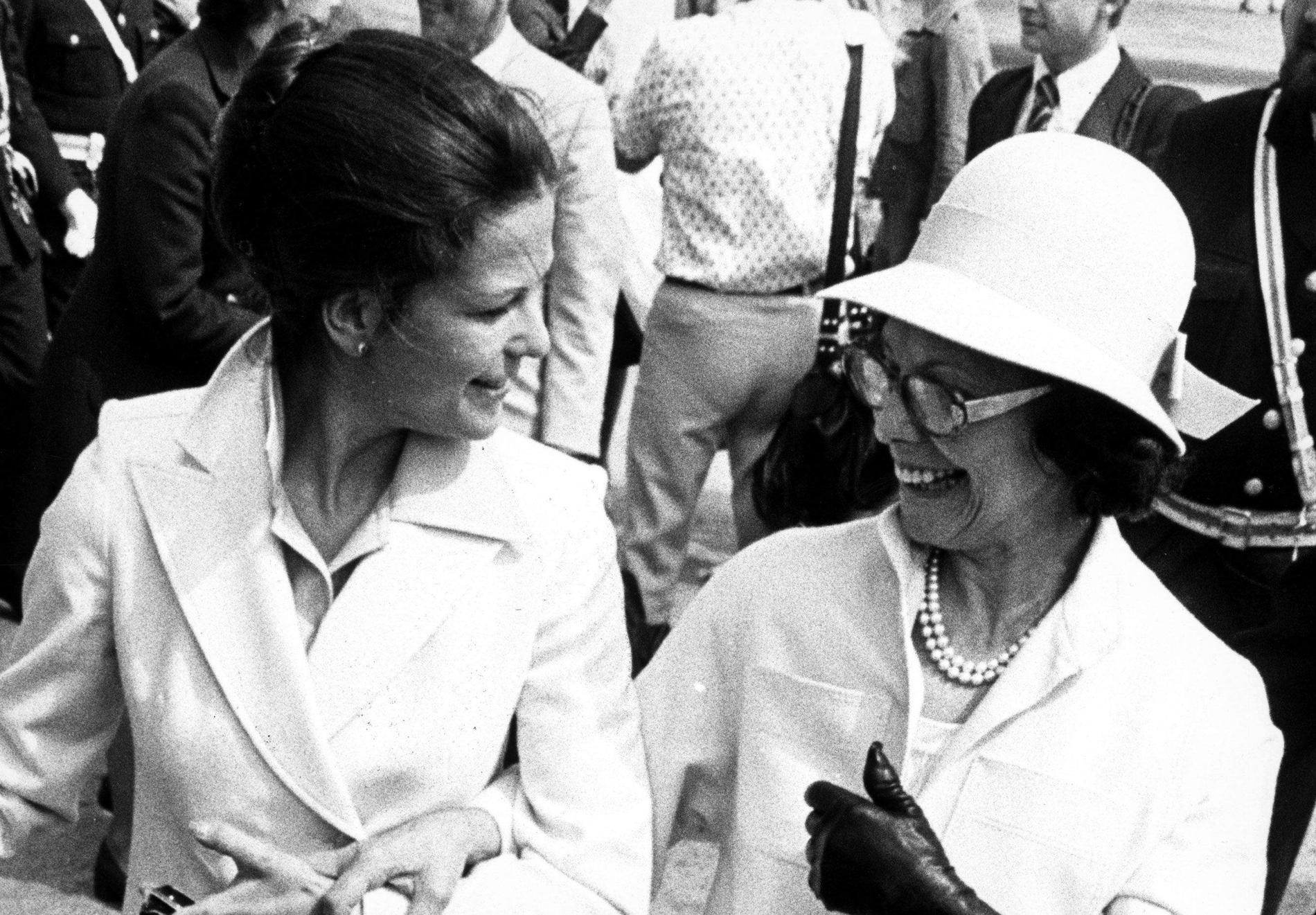 Drottning Silvia med sin mor Alice Sommerlath. Arkivbild.