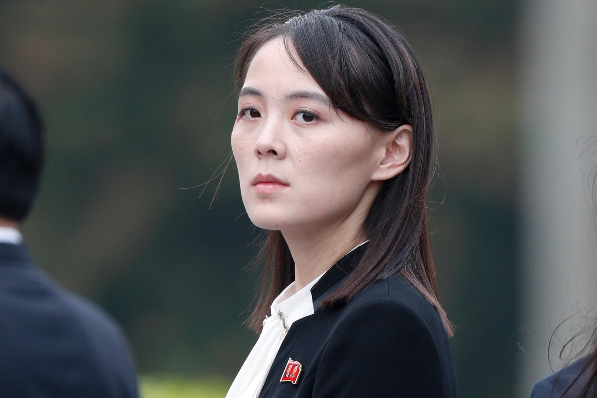 Kim Yo-Jong, syster till Nordkoreas diktator Kim Jong-Un ratar Sydkoreas fredsförslag. Arkivbild.