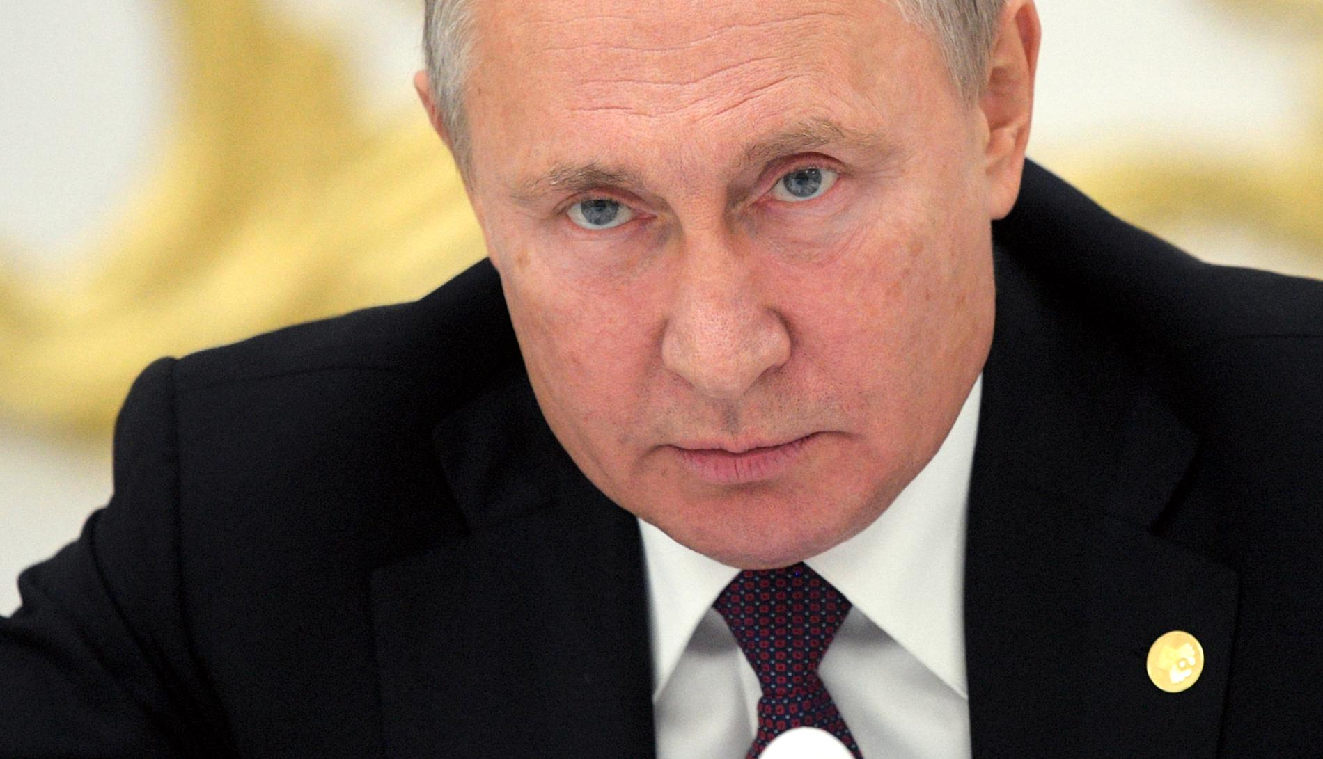 Rysslands president Vladimir Putin. Hultqvist pekar på ryska övningar i Sveriges närhet som en anledning til oro.