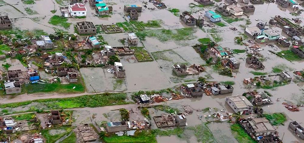 90 procent av staden Beira utplånad av cyklonen Idai.