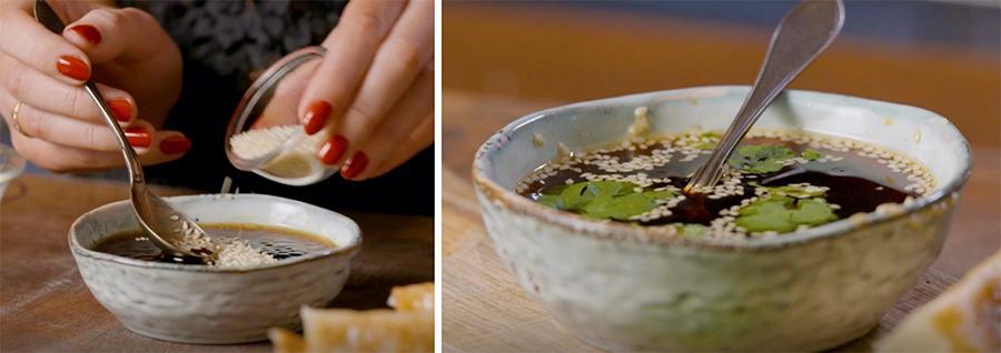 Gott till gyoza, vårrullar eller vanliga dumplings.