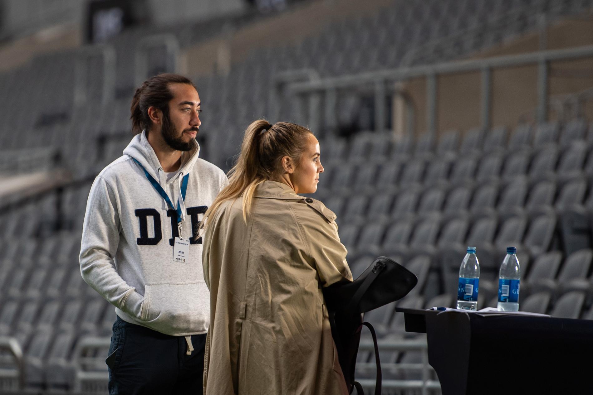 Mika Zibanejad och Irma Helin.