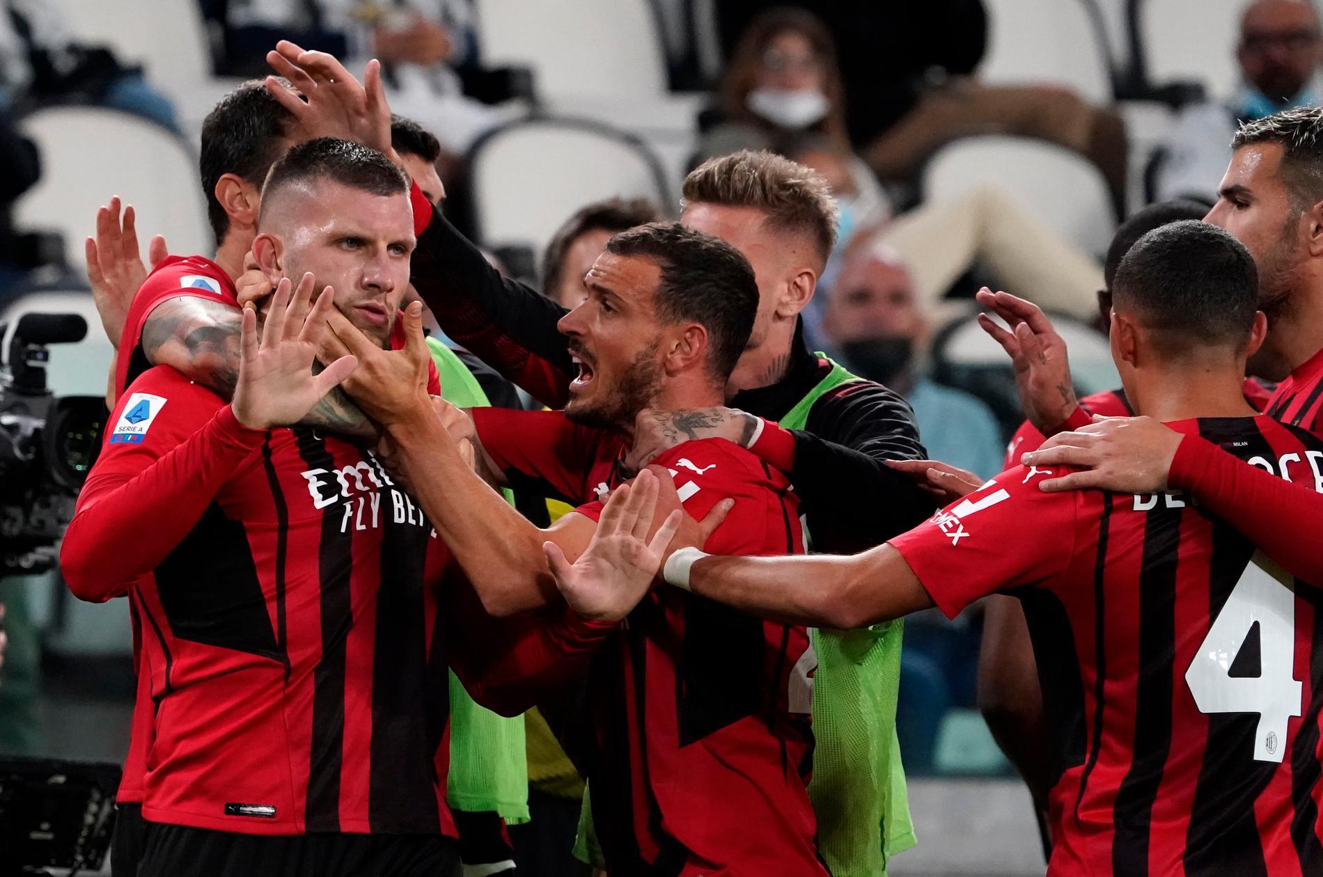 Ante Rebic räddae poäng för Milan.