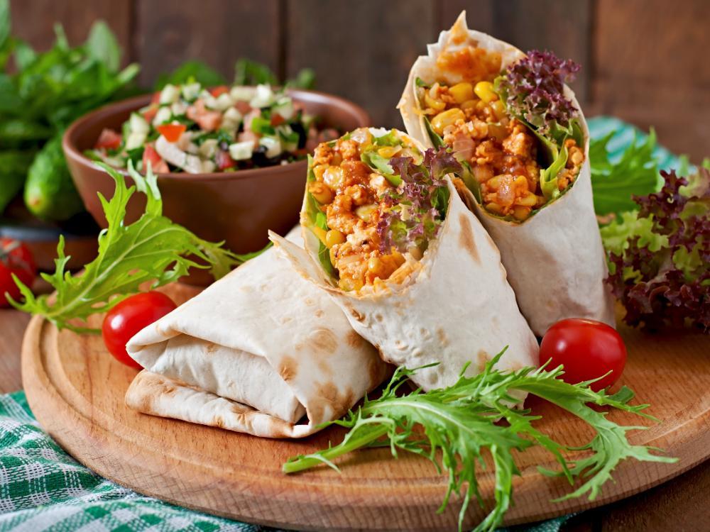 Burritos med vegofärs