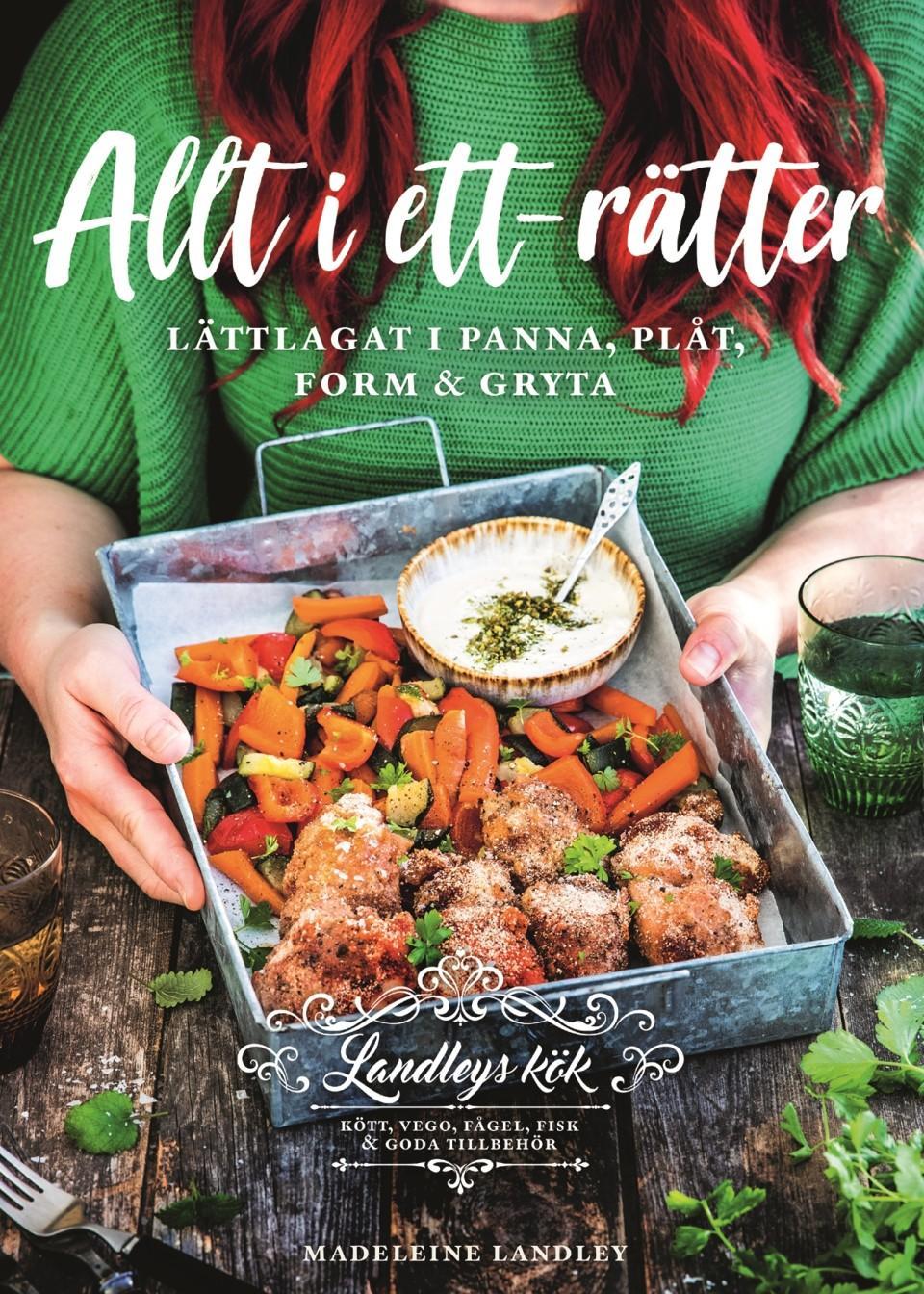 Kokboken Allt i ett-rätter av Madeleine Landley.