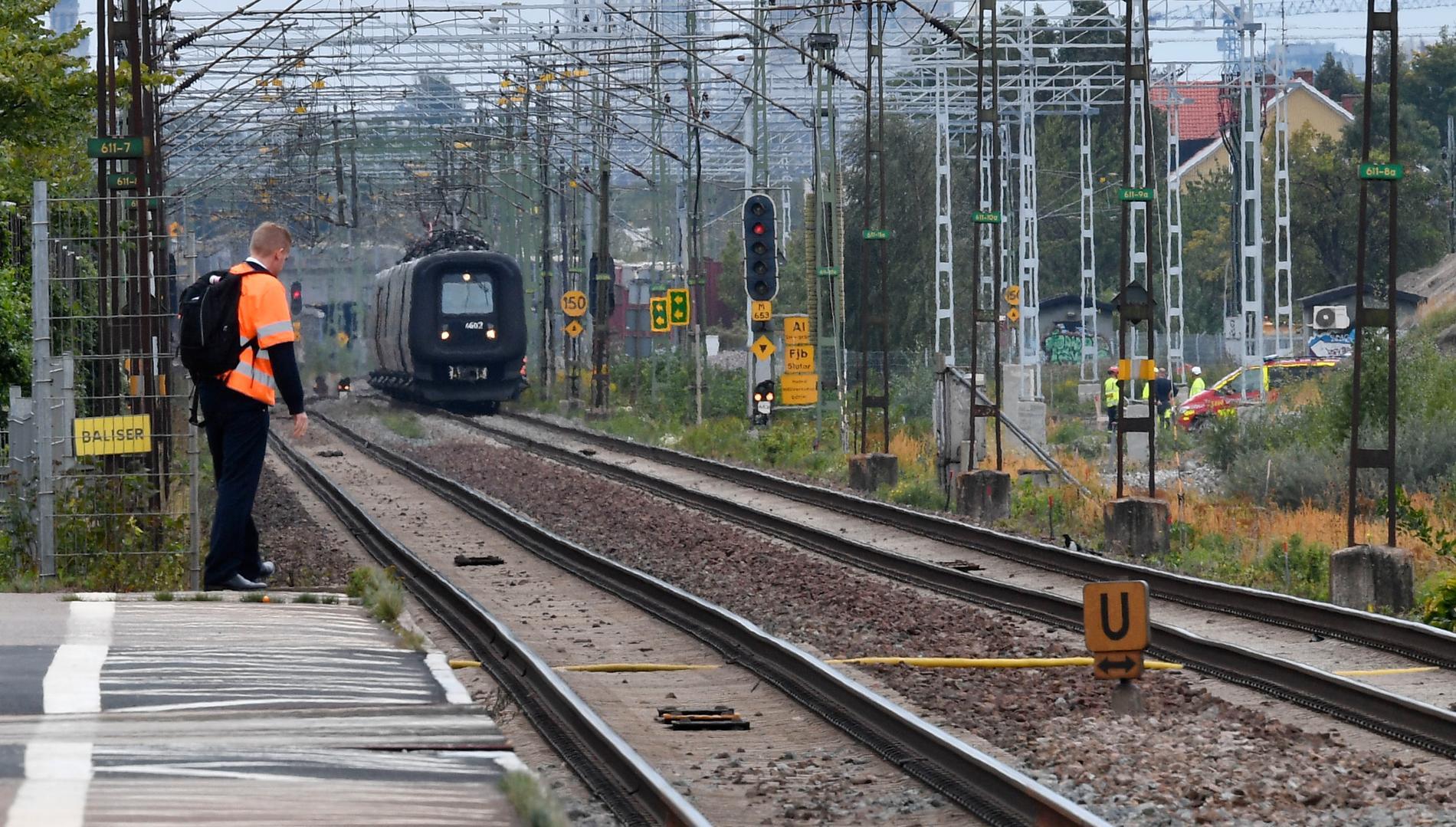 Tågen kunde inte köra genom Lund på morgonen.