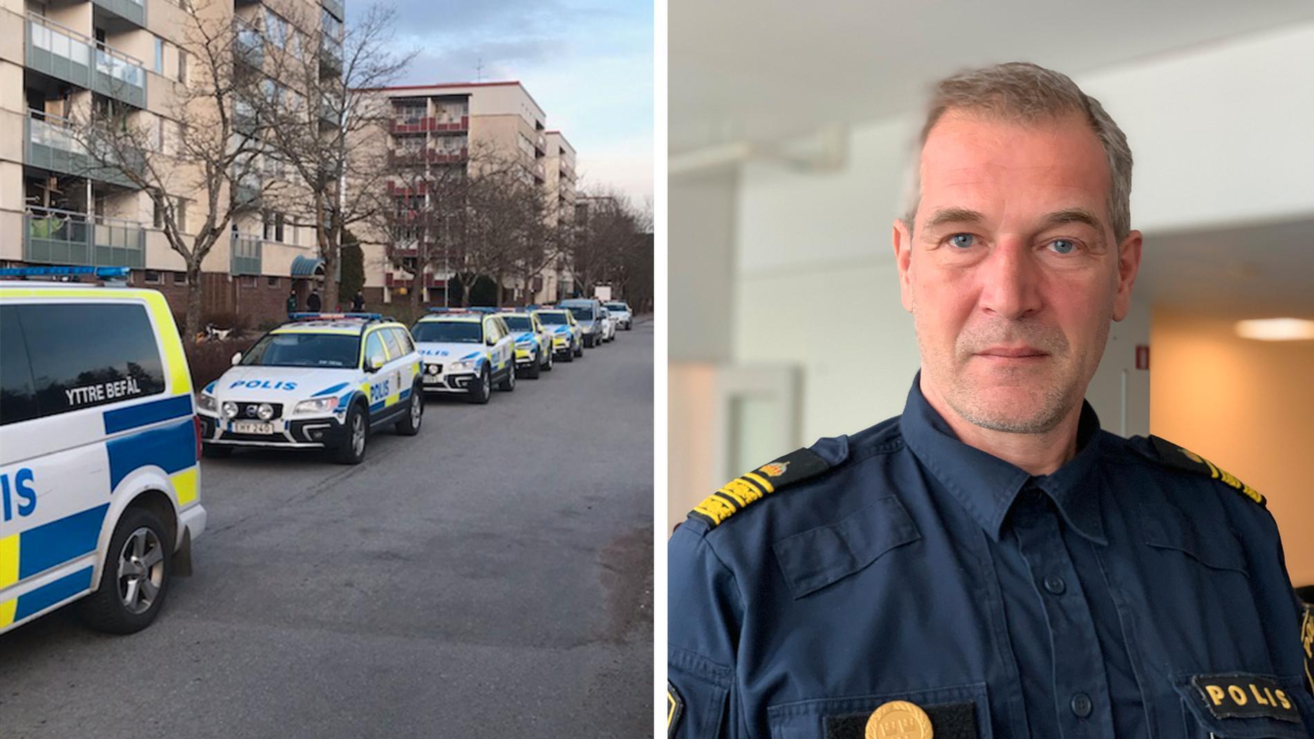 Daniel Larsson, polisinsatschef för Operation Rimfrost, är bekymrad när Rimfrost avvecklas.