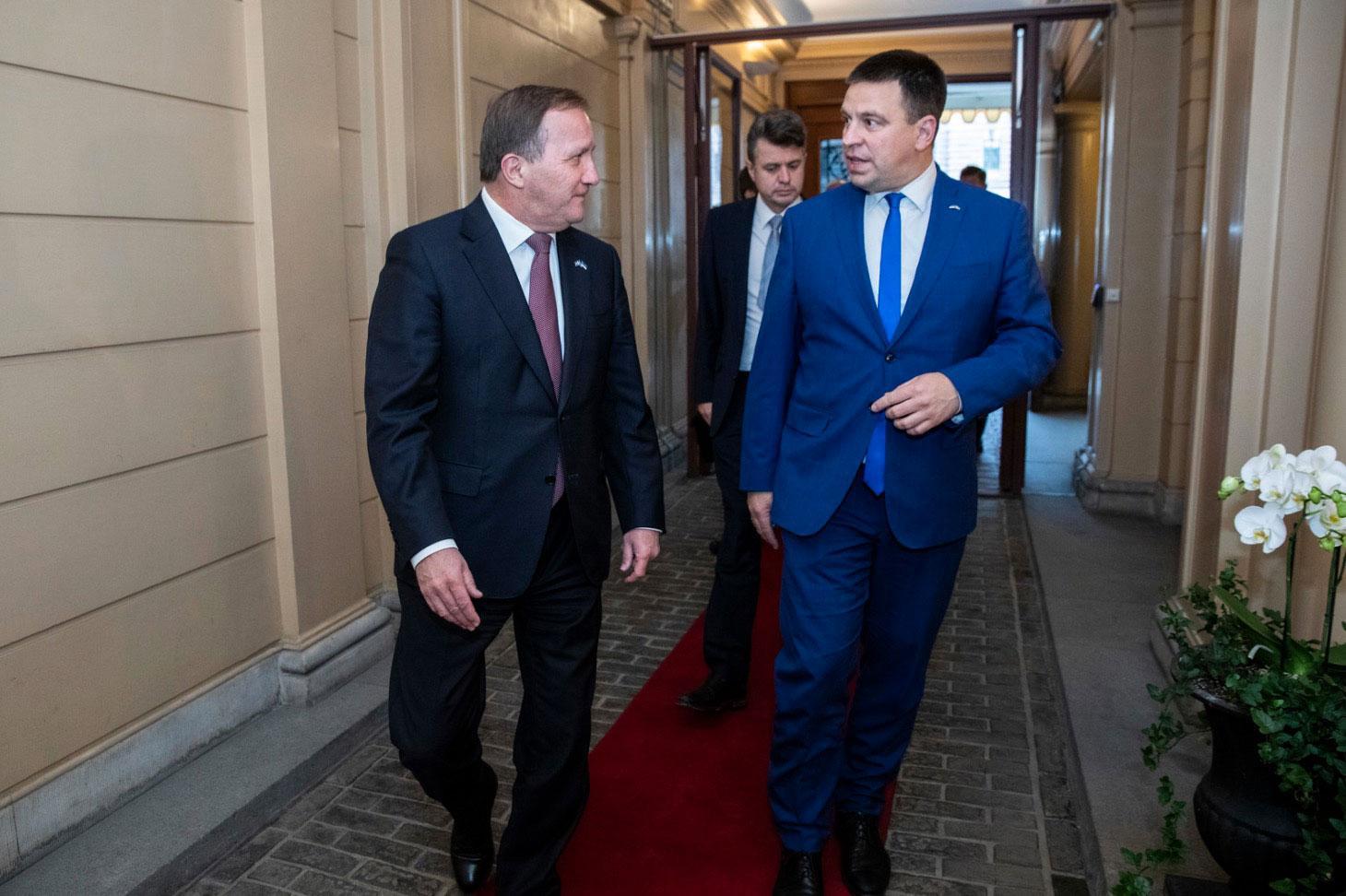 Statsminister Stefan Löfven träffade Estlands premiärminister Jüri Ratas i tisdags.