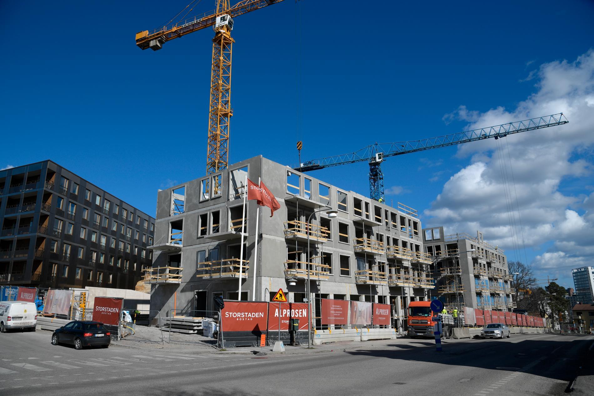 Det kraftiga lyftet för nya bostadsbyggen har börjat slå igenom på bostadsmarknaden, inte minst i Stockholms län. Arkivbild.