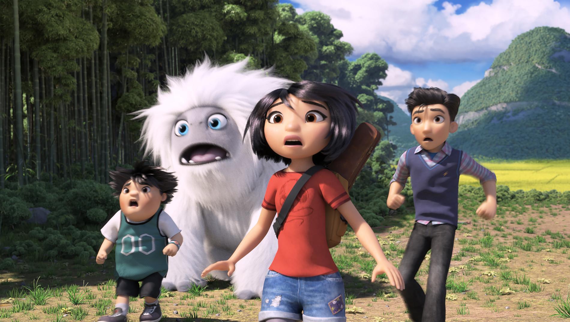 Peng, snömannen, Yi och Jin på flykt.