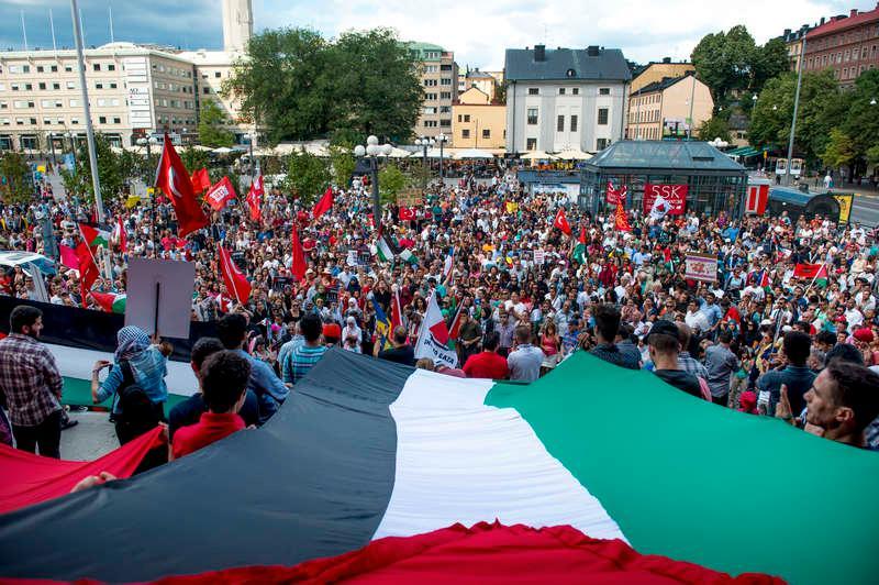 Under maj anordnades demonstrationer över hela Sverige till stöd för Gazas befolkning