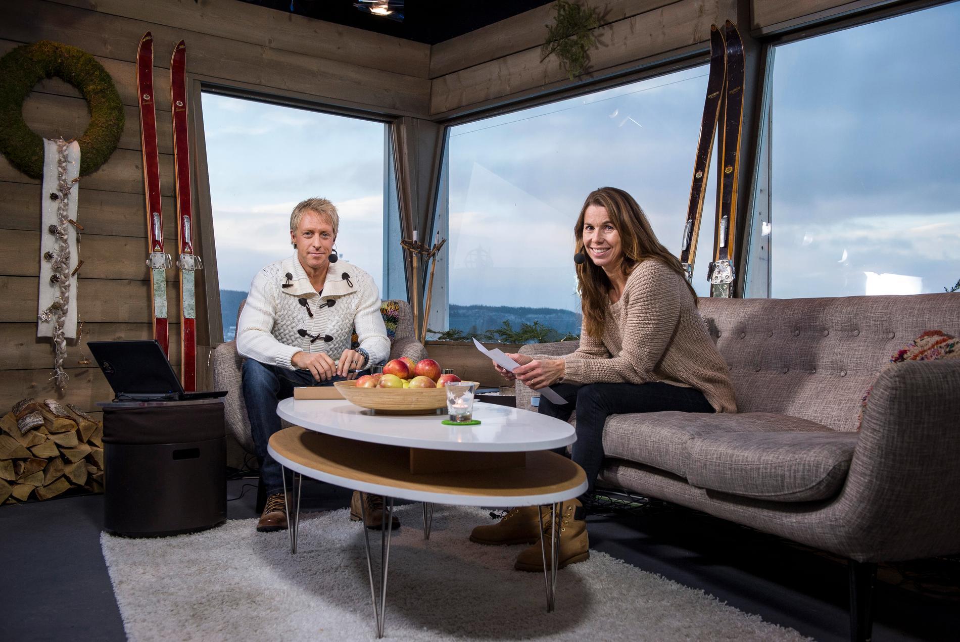 Vinterstudion – här med Andre Pops och Magdalena Forsberg