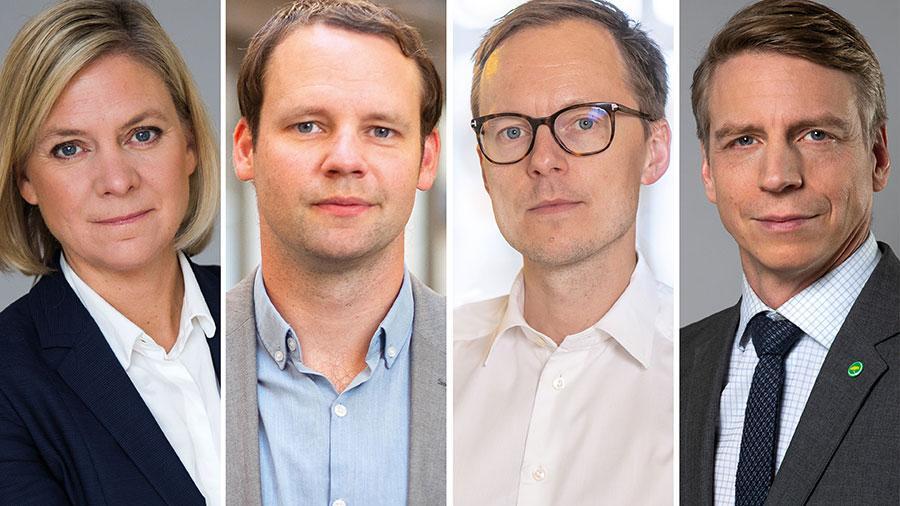 När läget nu försämras tvekar vi inte att snabbt vidta nya åtgärder. Därför förlänger vi omställningsstödet till företag samt omsättningsstödet till enskilda näringsidkare året ut, skriver Magdalena Andersson, Rickard Nordin, Mats Persson och Per Bolund.