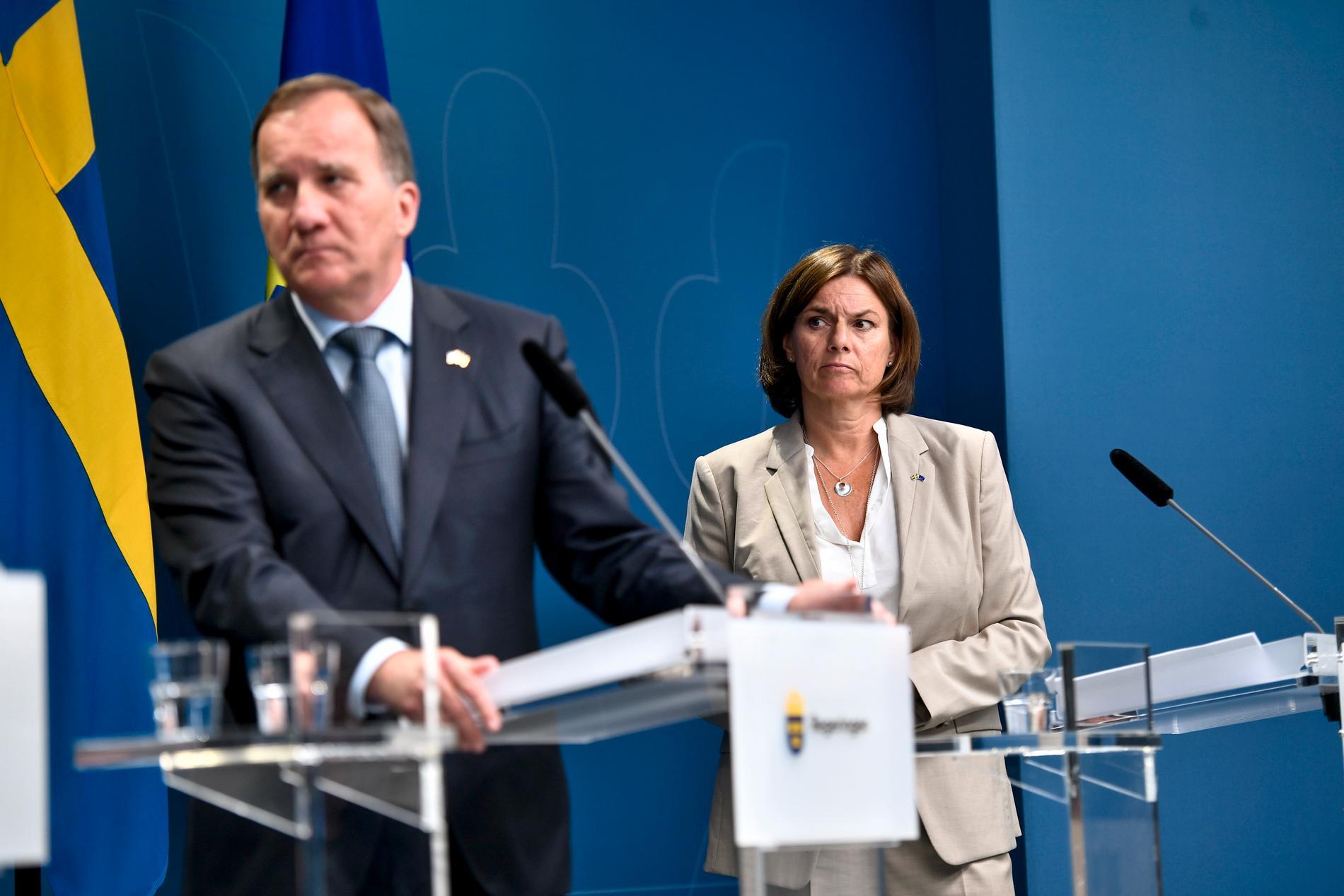 Statsminister Stefan Löfven (S) och vice statsminister Isabella Lövin (MP).