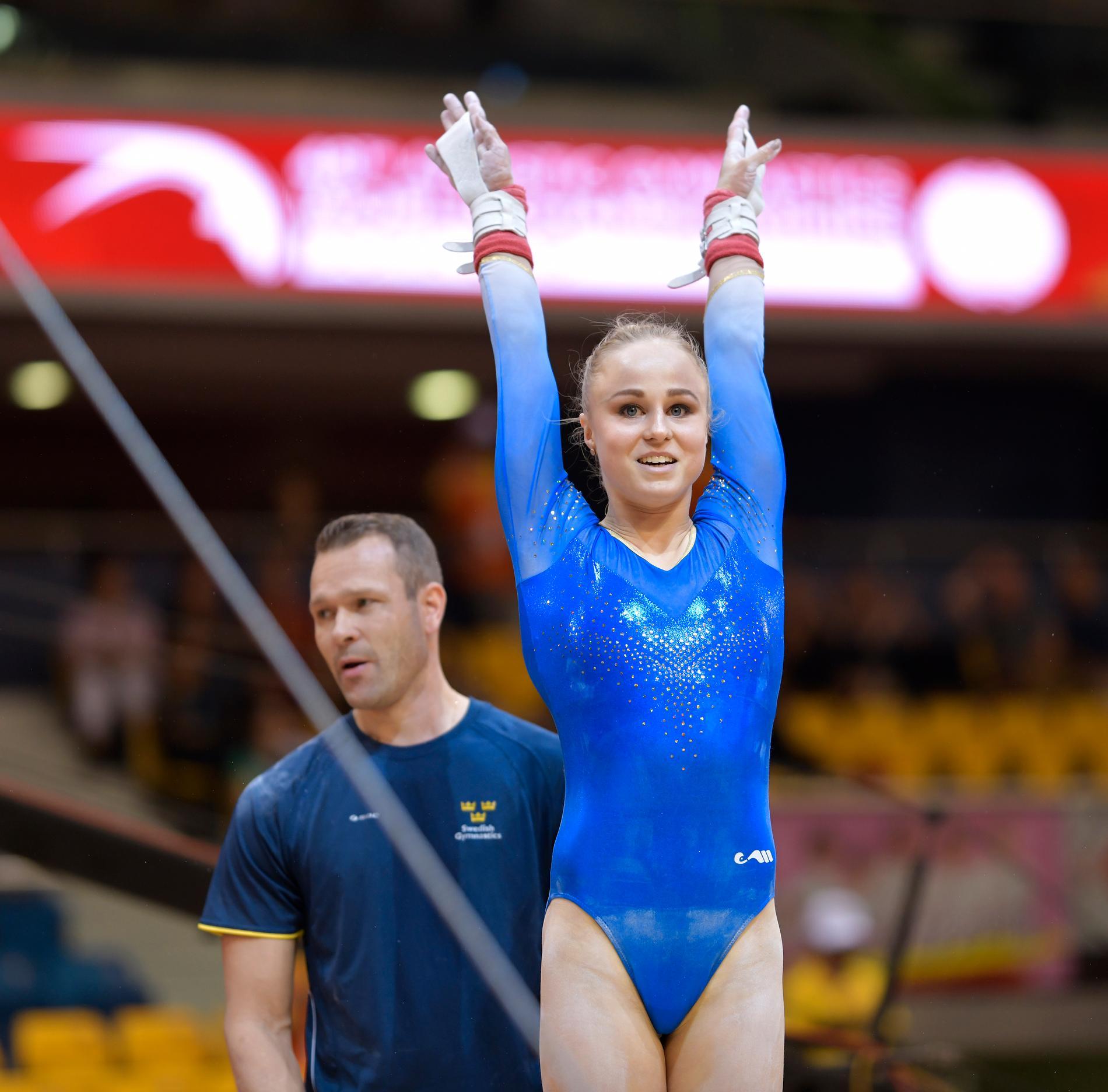 Jonna Adlerteg vill ta sig till OS i Tokyo nästa år. Hon fick med sig ett bra resultat från världscupen i Melbourne. Arkivbild.